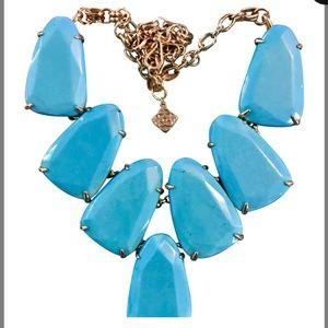 Harlow Teal statement necklace